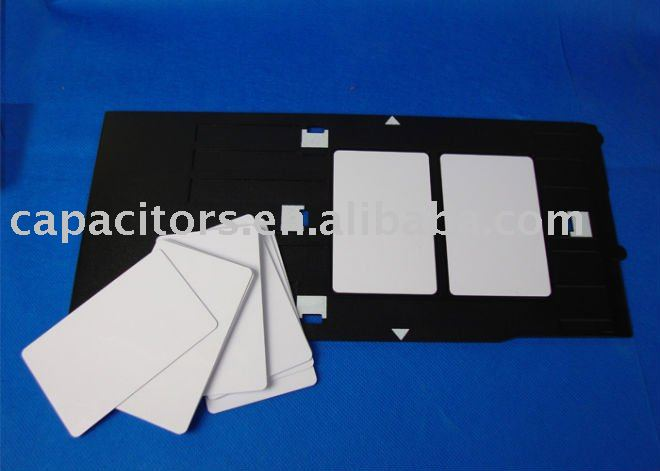 ID Card Trays Inkjet printed for Magnetic stripe Cards