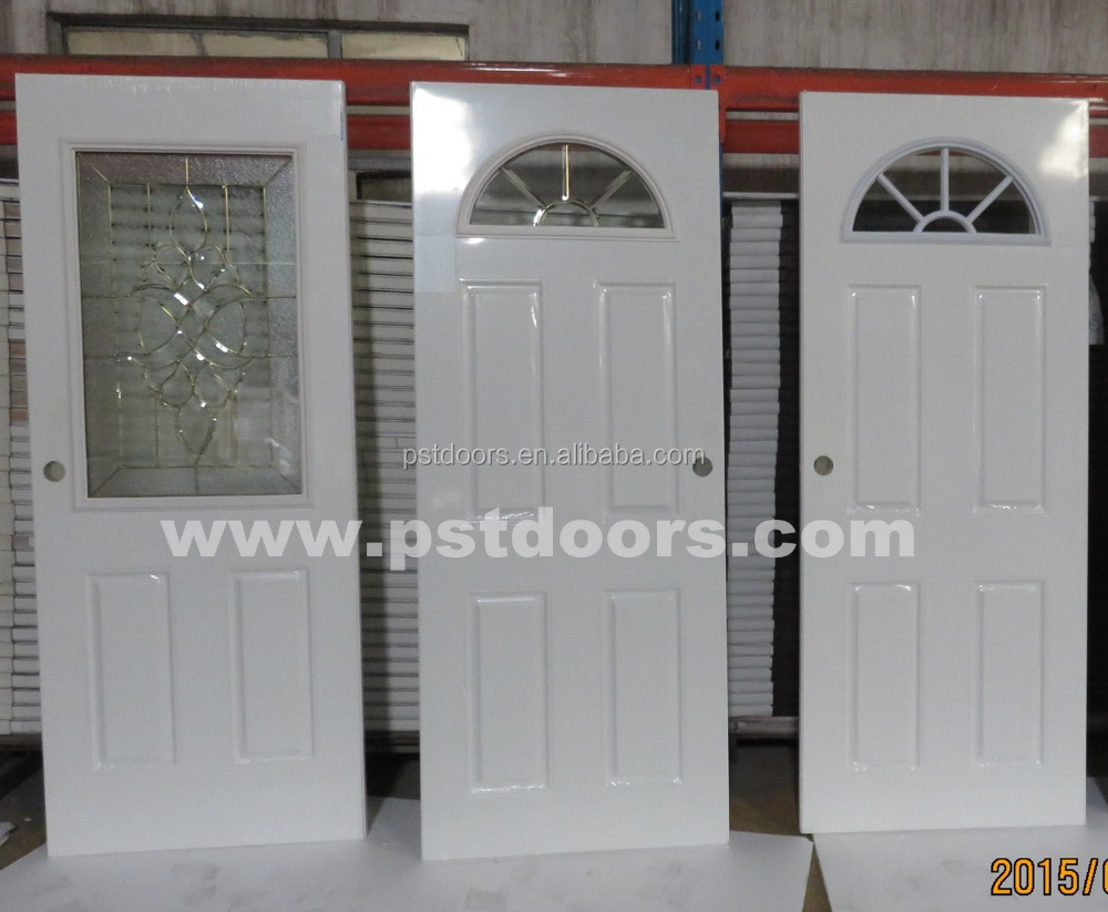 Galvanized steel door with 4 panel exterior door styles for Steel front doors for sale