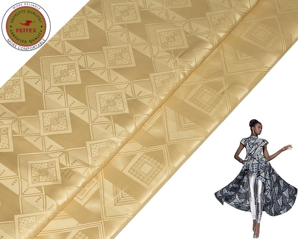2018 African Bazin Embroidery Design Dress Guinea Brocade Fabric for Wedding