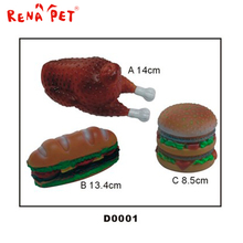 China wholesale vinyl pet toy dog chew toy chicken and Hamburg pet toy