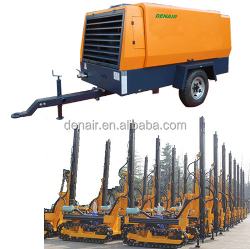 Cummins engine driven mobile air compressor for mining