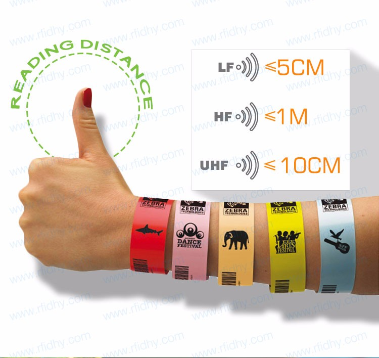 Cheap Customized Hospital NFC PVC One Time Use RFID Wristbands