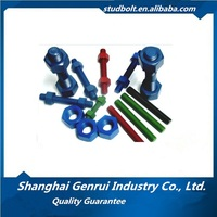 All Size Colourful PTFE Stud Bolt With Heavy Hex Nut