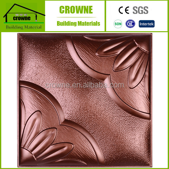 Decorative restaurant wall ceiling roof robot waiter leather wall panels salon sky garden price 3d wall panel