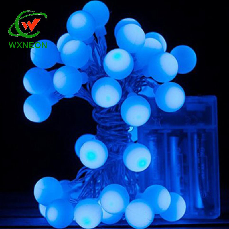 4m 40 leds blue bubble ball colorful