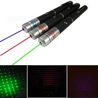 2in1 5mw Green Red Purple Blue Laser Pointer Pointers Starry Star Beam Point Pen Pens Stylish Disco Party Stage 532nm 650nm 405n