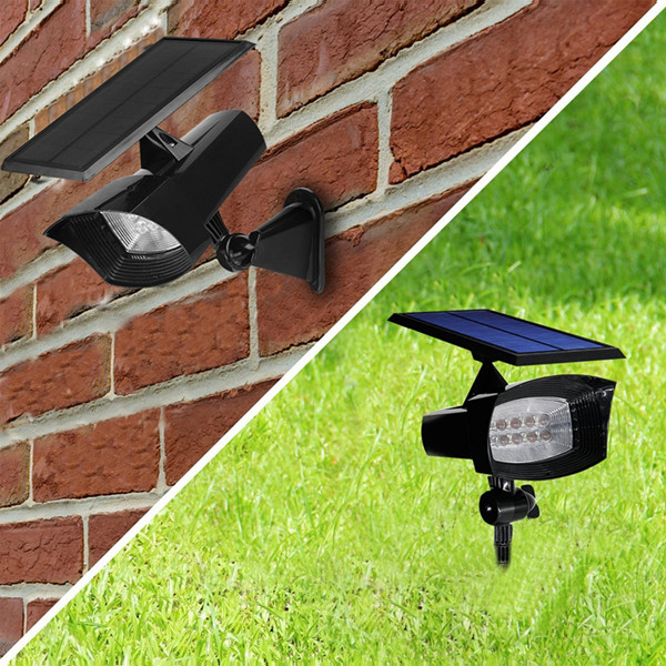 400 Lumen Super Bright 8 LED Solar Spot light for Outdoor Garden