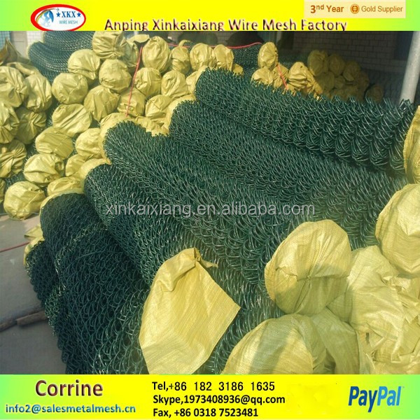 plastic chain link fence, pvc coated used chain link fencing