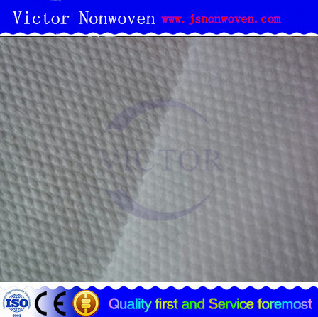 Cross lapping 50% viscose and 50%polyester pearl spunlace nonwoven