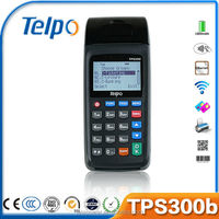 Telpo TPS300b Linux handheld cheap POS for recharge,top up,bill payment, selling lottery/tickets with thermal printer