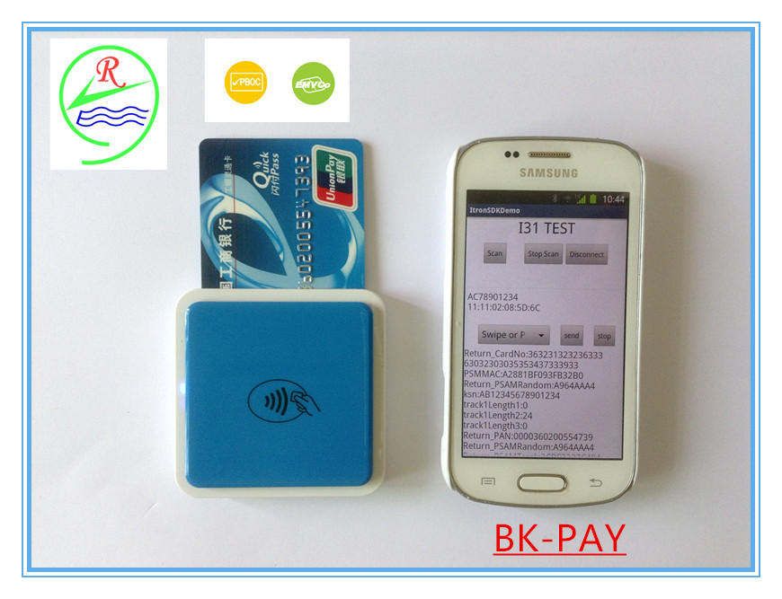 Smallest 3 in 1 Bluetooth credit card readers credit card terminal