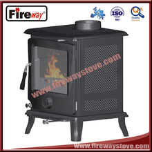Mini cast iron stove with secondary combustion