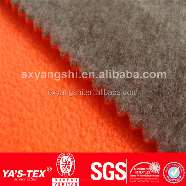 Fleece Jacket Fabric, Anti-Pilling 2 layers Bonded Polyester Polar Fleece Fabric for Fleece Coat,wholesale polar fleece