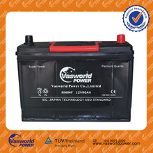 sealed maintenance free car battery manufacture 12v 90ah 30h90 lead acid car battery recycling