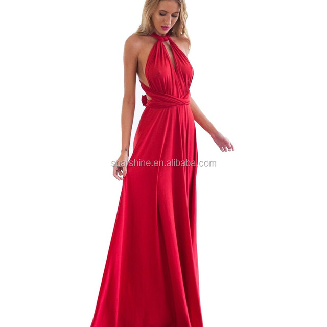 20 Color Summer Sexy Women Boho Maxi Dress Red Bandage Long Dress Sexy Multiway Bridesmaids Convertible Dress Robe Longue Femme