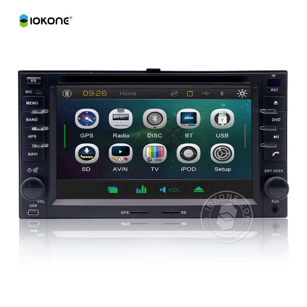 Factory cheaper price 6.2 inch touch screen car dvd player for KIA SPORTAGE / CERATO / CARENS 2din with gps bluetooth rds
