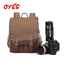 Wholesale Hot Sell Durable Canvas Bag Camera Dslr Waterproof Camera Bag Backpack