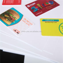 Hot Sale Fluorescence Credit Cards Bank Cards High Vicat PVC Card Material