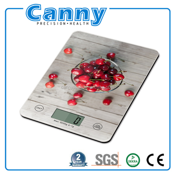 new year promotion digital glass kitchen weigh scale 1g-5kg