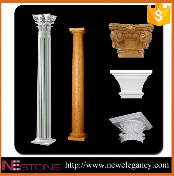 Well polished natural wholesale interior decorative wall columns