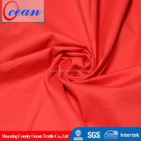 2014 hot sales red cotton poplin 98% cotton 2% elastane fabric