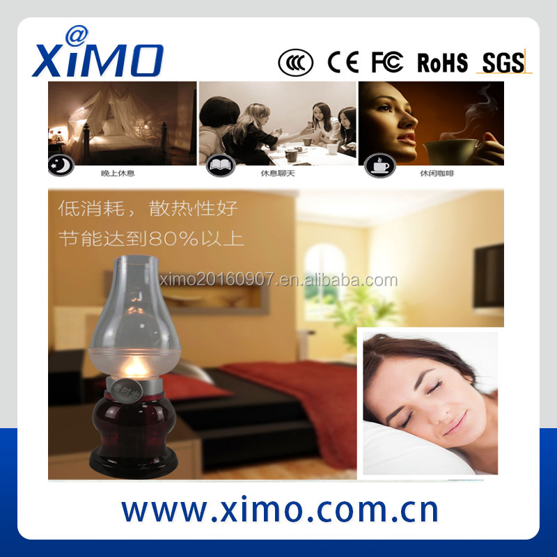 Rechargeable Flameless Candle table lamp lights with 8 Hour Battery Life and Realistic Blow On/Off