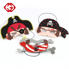 Promotional cartoon eva halloween party pirate mask for kids