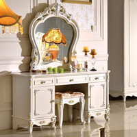 new design makeup table triple drawers antique dressing table
