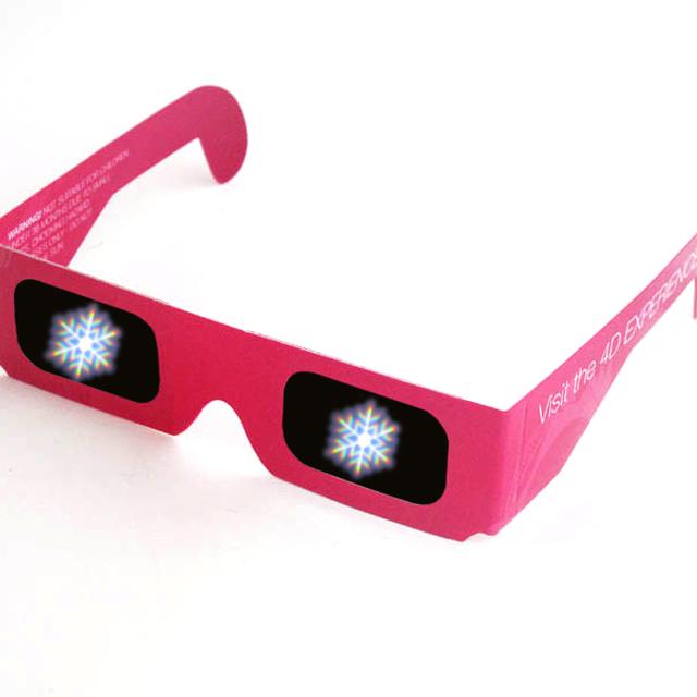 Reasonable price custom logo frame paper 3d carboard glasses defraction