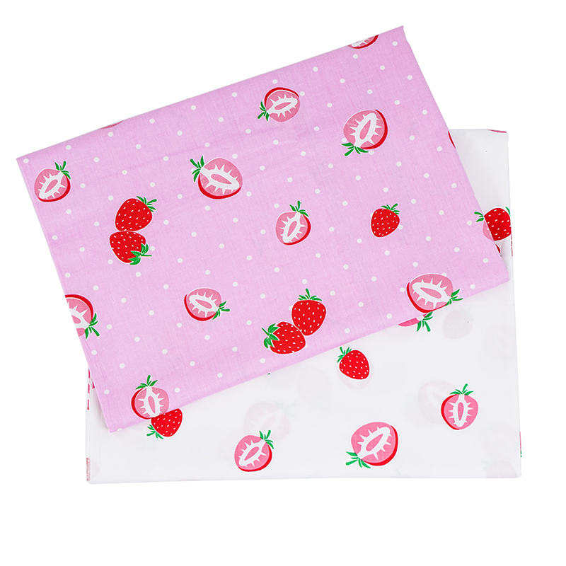 Cute comfortable 100% cotton strawberry printed fruit design fabric for dress