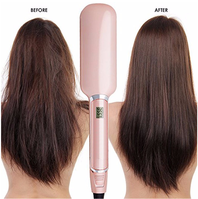 2018 Best wholesale electric custom fast Professional Steam Ceramic brown cheap magic ionic 2 inch infrared hair straightener