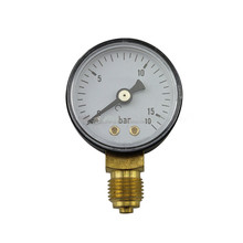 Customized 0-16bar Gas Normal Bottom Connection Black Steel Case Brass Movement 40mm Pressure Gauge