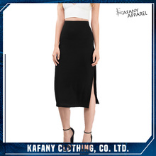 2017 New Fashion Skirts Girls Pictures Of Long Taupe Midi Skirt Made In China
