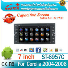 Android 4.4.4 Car DVD with Quad-core steering wheel control for Toyota Avanza/Prado/Land Cruiser