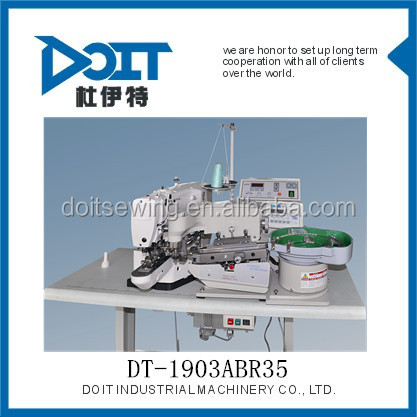 DT-1903ABR35 Full automatic jeans snap electronic button attaching industrial sewing machine