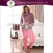 Fancy fashion rabbit cute sleepwear flannel ladies sexy night wear