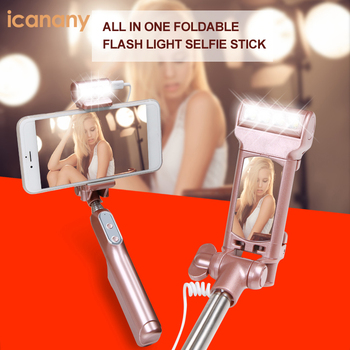 All day shot all in one folding mini tripod bluetooth selfie stick with flash light