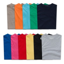 Custom promotional hight quality pure color club 100% cotton t shirt