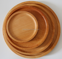 Healthy Natural Wood tray Small Round Wooden Tray For Bread Fruit