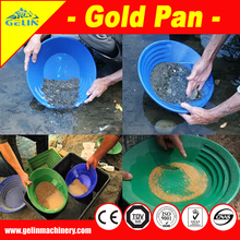 Gold plastic pans for gold ore separation