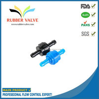 "1/4"" non return plastic fuel spring automatic water valve flow control check valves"