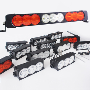 Modular System Best LED Light Bar Offroad - White Amber Flood Spot - 30W C.ree each - for Offroad Automotive Truck