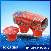 Strawberry gel snack