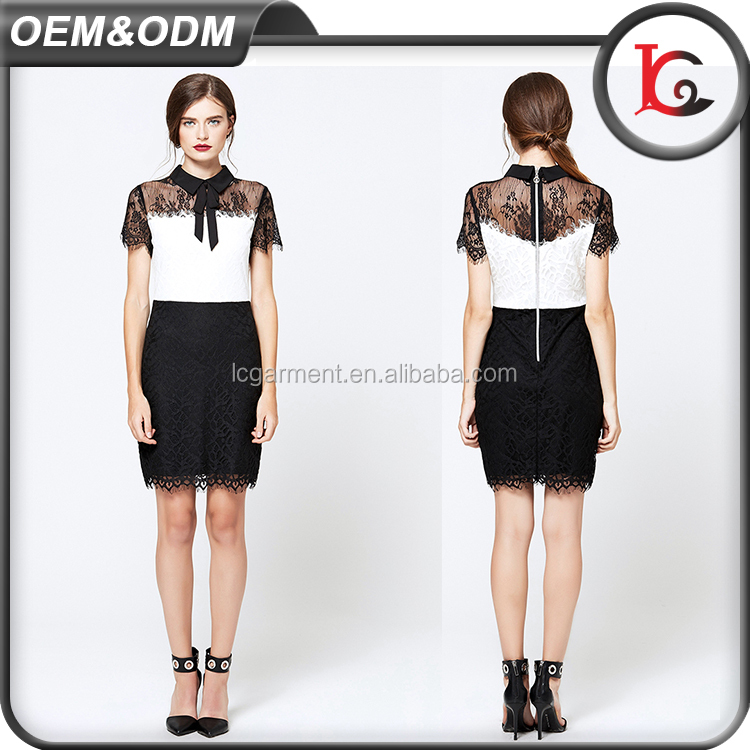 western designs short sleeve bandage formal office dress sexy one piece lace beautiful lady fashion dress