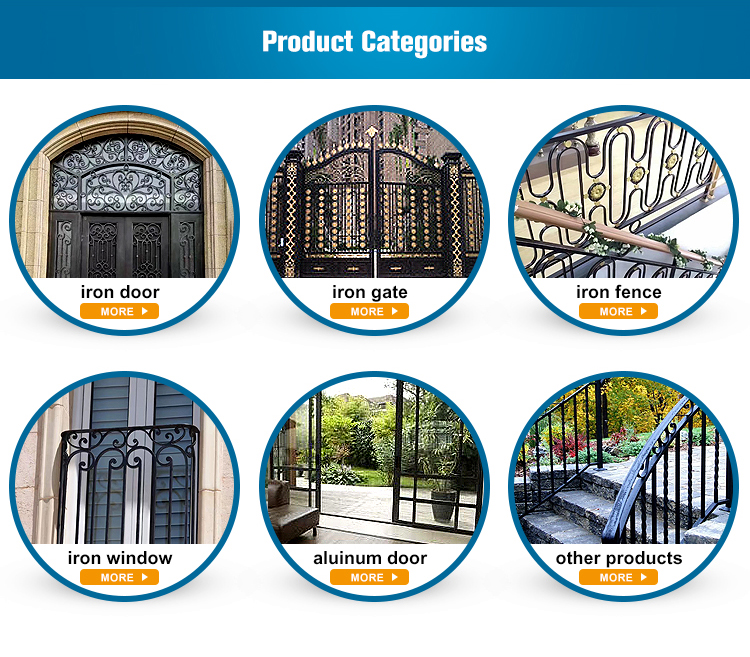 Latest design superior quality modern wrought iron driveway gate designs