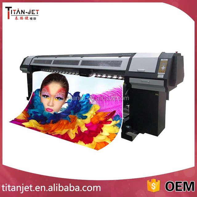3.2m four DX10 Print Head Large Format ECO Solvent Ink Jet Printer cheapest price