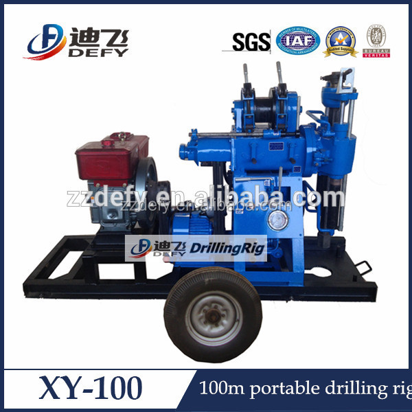 man portable XY-100 hydraulic water well drilling rig