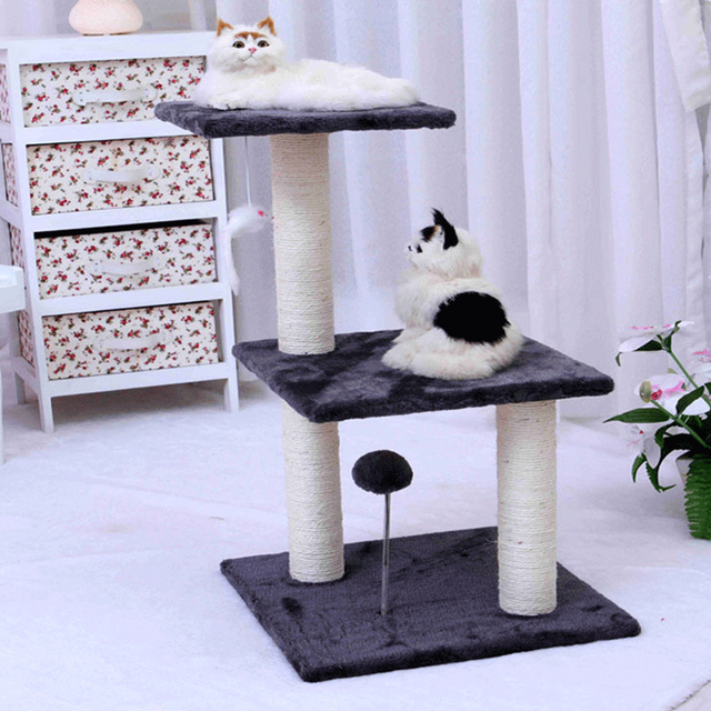 D3 Double With A Hair Ball Pet Scratch Board Cat Tree