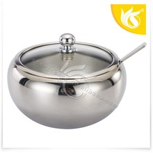 Top Selling Stainless Steel Glass Sugar Bowl