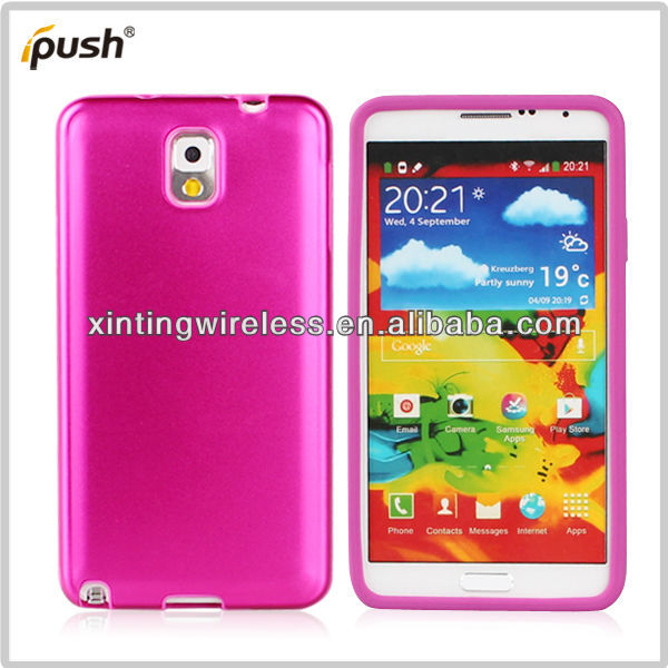 Metal+Silicone Cell Phone Case Cover For Samsung Galaxy note 3 III N9000 N9002 N9005